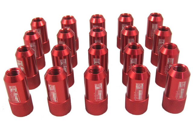 Red 40mm Aluminum Racing Wheel Lug Nuts With Key / Lock For Honda