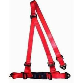 Buckle Style Red Racing Safety Belts Dengan Baut / 3 Point Retractable Seat Belts