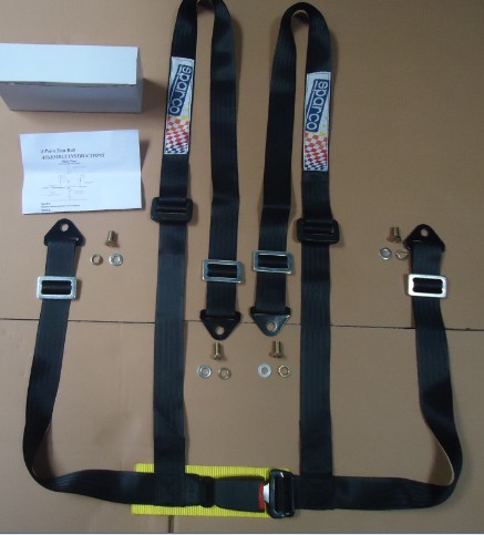 Customized Automobile Safety Belts , Four Point Harness Seat Belts Comfortable
